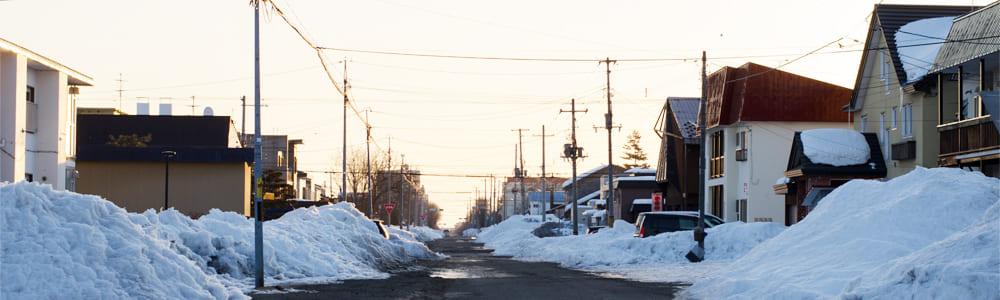 寒冷地の街並み